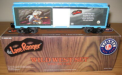 LIONEL 6-15098 LONE RANGER WILD WEST ADD-ON BOXCAR TOY TRAIN CAR O GAUGE SILVER