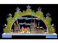 Schwibbogen Lichterbogen Erzgebirgische Weihnacht Tradition 3D LEDS mit Adapter