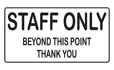 Staff nur Selbstklebende Sticker Sicherheit Zeichen Business ()
