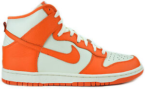 NIKE-DUNK-HIGH-MENS-317982-118-SAIL-SAFETY-ORANGE-CLASSIC-BASKETBALL-SHOES