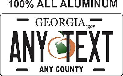Georgia Peach Custom Personalized License Plate - Georgia license plate -
