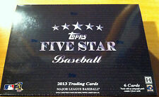 2013 Topps 5 Five Star Trading Cards MLB Hobby Baseball Box MLB 5 Cards Autos