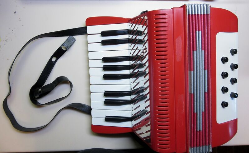 Vintage Bontempi Plastic Toy Accordion-Made In Italy