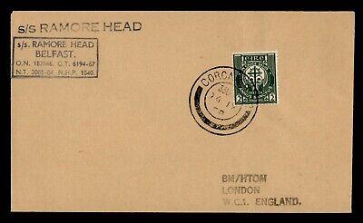 DR WHO 1958 IRELAND CORCAIGH PAQUEBOT RAMORE HEAD SHIP TO ENGLAND  g19743
