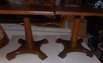 Pair Of Pecan Mid Century Pier End Tables / Side Tables Mersman  - $499.00