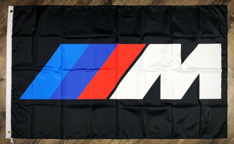 BMW M Series Logo Car Flag 3x5 ft Racing Garage Banner M3 M4 M5 M6 M-Power NEW