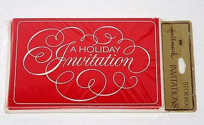 Vintage 8 Invitations Christmas Party A HOLIDAY INVITATION, Hallmark Cards