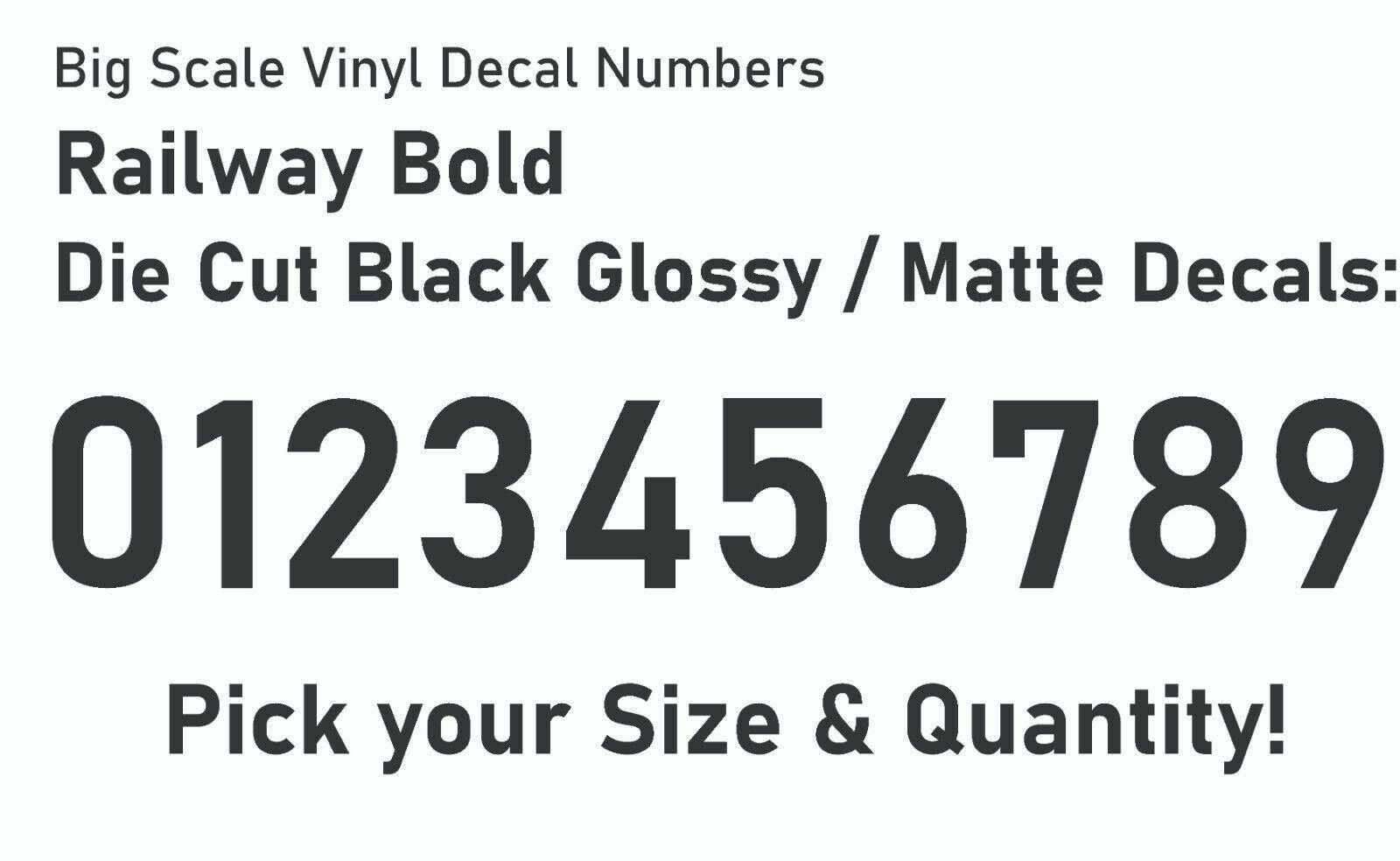 "Home Decoration - 0-10 7""-32"" Big Size Vinyl Die Cut Decal Numbers (Black), 6Yrs Outdoor Film"