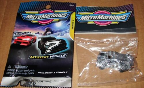 Micro Machines Blind Bag Series 2 Chaser Chrome Silver Garbage Truck #95 Hasbro
