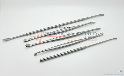 Penfield Dissector Set Of 5 Neurological Surgical Plastic Surgery Instruments