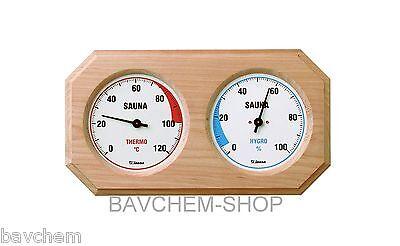 Saunahygrotherm Hygrotherm Sauna measurement Sauna air gauge 24cm wide with Wood