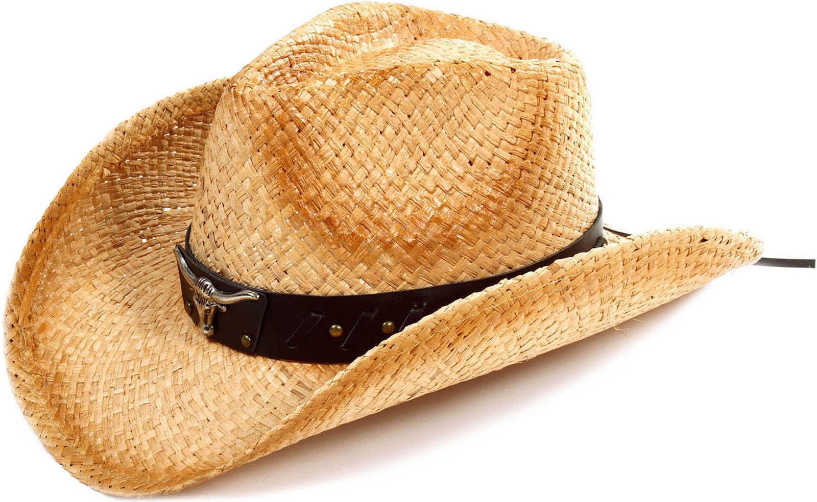 Boys Girls Kids Western Cowboy Cowgirl Straw Hat Outdoor Bea