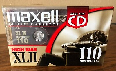 Maxell Audio Cassette High Bias XLII 110 Minutes NEW, Factory Sealed