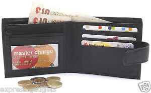 MENS-LUXURY-SOFT-BLACK-QUALITY-REAL-LEATHER-WALLET-CREDIT-CARD-HOLDER-PURSE