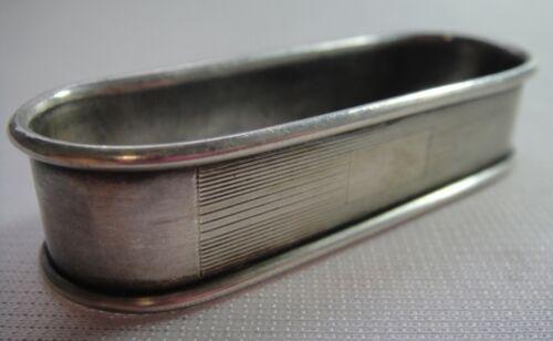 "Vintage Watrous Sterling Silver Napkin Ring NN1-1 - No Monogram - 2-1/2"" Long"