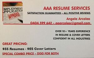 NEED A RESUME - CALL AAA RESUMES NOW! Craigieburn Hume Area Preview