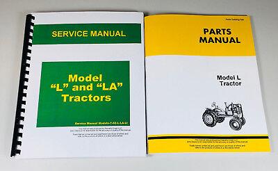 Service Manual Set For John Deere L Tractor Repair Parts Catalog Technical