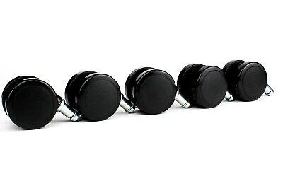 Set Of 5 Dental Stool Caster Wheels For Adec Midmark Pelton Crane