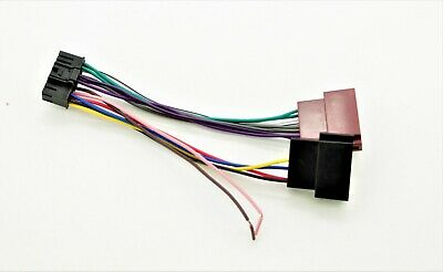 Sony CDX/ XR/ XRC  ISO Wiring Harness Connector Adaptor Lead Loom Cable Wire