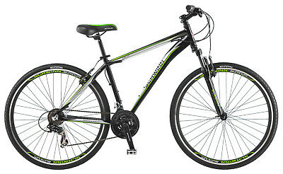 700c Schwinn OR2 Sport Hybrid bike front suspension, Black Green