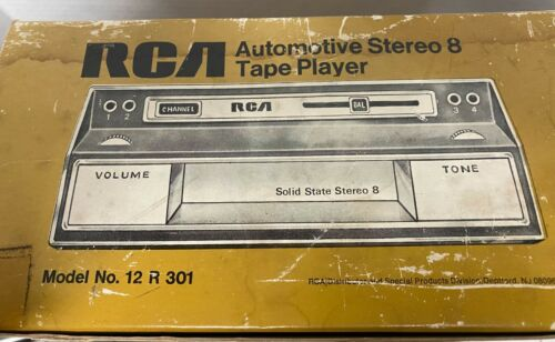 NOS RCA Automotive Solid State Stereo 8 Track Player  New In Box Model 12 R 301