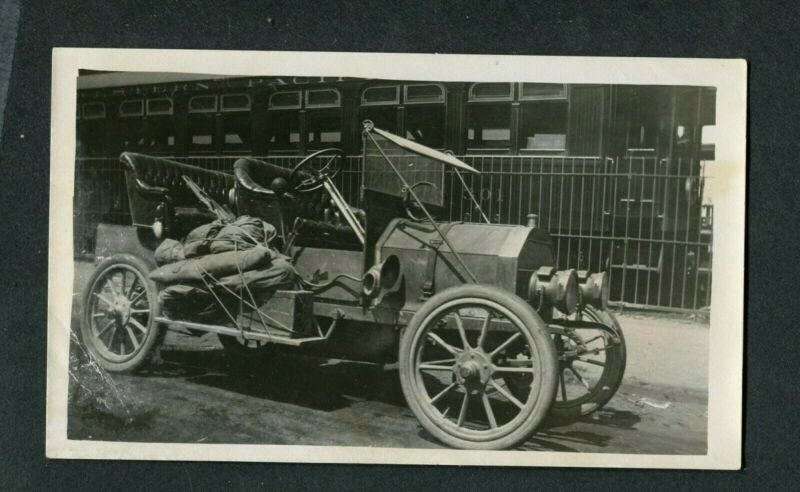 Vintage Car Photo circa 1910 Custom Speedster Bug Automobile maybe Buick  387073