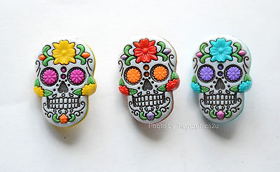 Day of the Dead / Halloween Skeleton Head Buttons / Dress It Up Jesse James - Day Of The Dead Crafts