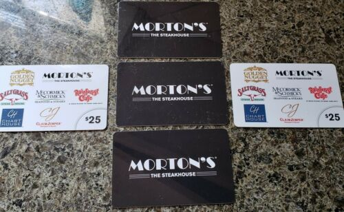 LANDRY S RESTAURANTS GIFT CARD MORTON S Steak CHART HOUSE 200 Total - $185.00