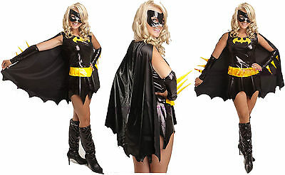 Sexy Batgirl Bat Fancy Costume adult outfit dress Halloween USA ()