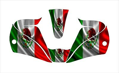 Lincoln 2450 3350 Digital Welding Helmet Wrap Decal Sticker Mexico Flag Mexican