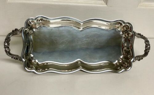 VINTAGE F.B. ROGERS SILVER COMPANY Footed Tray with Handles