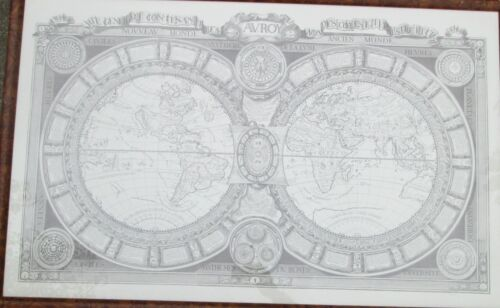 1688 Large Map Of World By Jaugeon 39 x 24 inches
