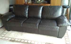 Freedom Leather Lucas 3 Seater SofaBed Maroubra Eastern Suburbs Preview