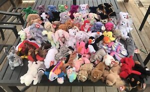Massive ty 1990's Beanie Babies Collection (60+)