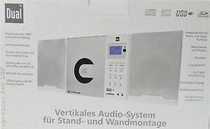 Dual Vertikal DAB 102 Micro-Stereoanlage Audiosystem Wandmontage weiß MP3 B