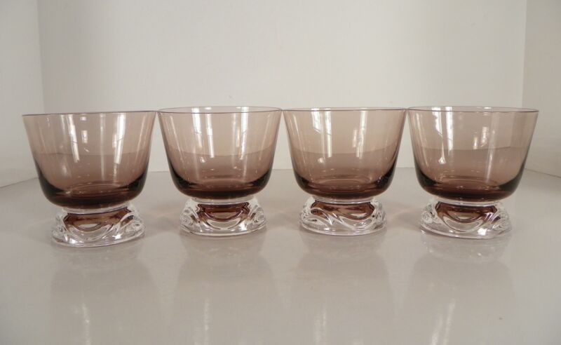 Fostoria Crystal HORIZON Cinnamon Sherbet Footed Tumbler (s) LOT OF 4 Glass