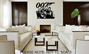 JAMES-BOND-ALL-6-FROM-1962-TO-2012-WALL-STICKER-VINYL-WALL-ART