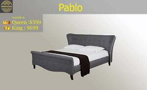 Brand New Premium Quality Fabric Queen/King Bed from $42 P/W