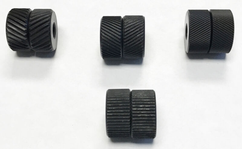 4 PAIR KNURLING WHEEL KIT WITH 3 DIAMOND & 1 STRAIGHT KNURLS (2220-0030)