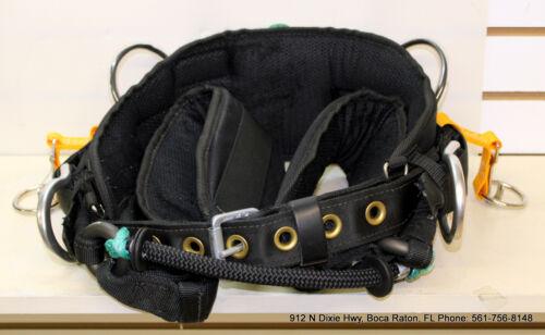 "Buckingham Tree Climber Saddle Buck Cat 2 DRing 4""Wide LegStraps 16905W1-L USA"
