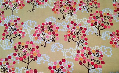 Crafts Quilts Sewing  P & B Textiles 100% Cotton Day Dreams Green Fabric BTY