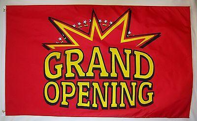 Grand Opening Star Burst Flag 3 X 5 Deluxe Indoor Outdoor Business Banner