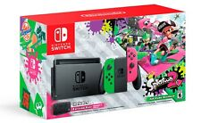 NEW Nintendo Switch Splatoon 2 Console Green Pink Joy Con 32GB + Case Bundle