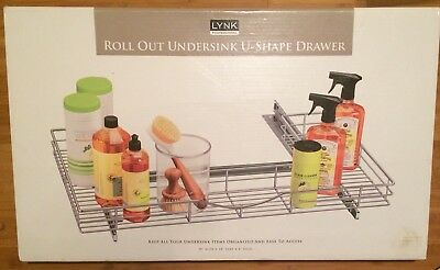 Lynk Professional U-Shaped Roll Out Under Sink Drawer Slide Out Under Cabinet