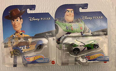 Hot Wheels: Disney Pixar - Character Cars - Toy Story 4 Woody And Buzz Lightyear