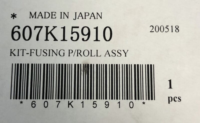 Xerox 607K15910 Versant 180 Fusing Pressure Roll Assembly