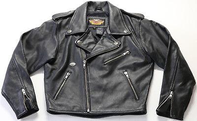 Kinder Jugend Jungen Mädchen Harley Davidson Lederjacke S Black Einfach Häute