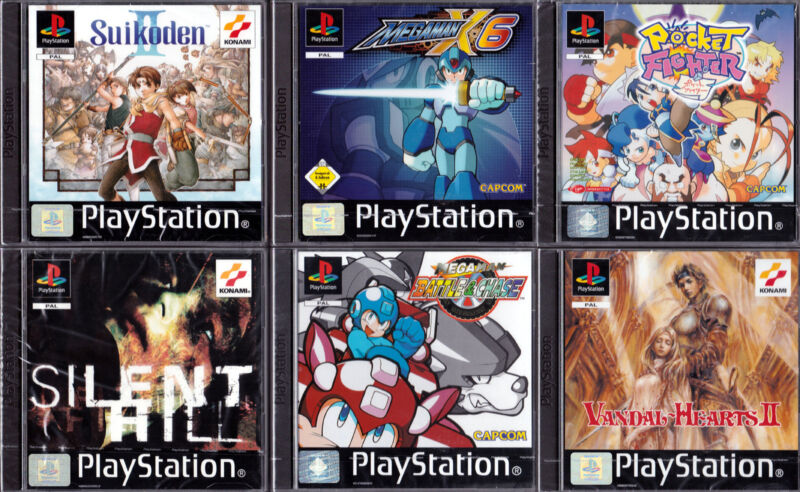 Für das Konami- und Capcom-Sextett, in Folie und Seal-Streifen intakt, legen Sammler 4-stellige Beträge hin. (©Gameplan)
