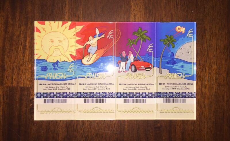 Phish Official Lucite Magnet Miami 2003 / 2004 Complete Set