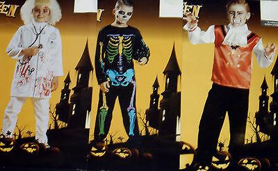 Jungen KOSTÜM DOKTOR SKELETT VAMPIR Gr.S M Fasching Karneval Halloween NEU ()